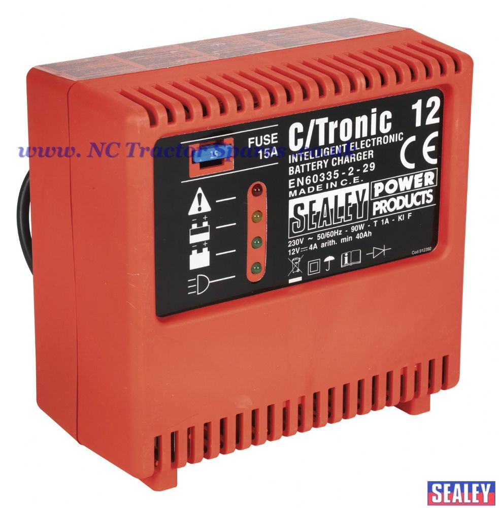 Battery Charger Electronic 6Amp 12V 230V.